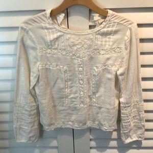 Hinge Cotton Lace Blouse XS